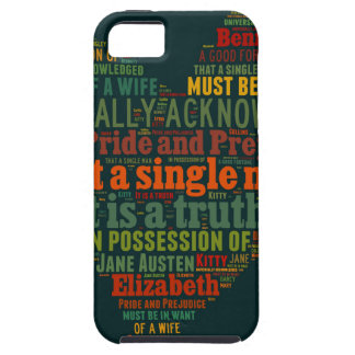 Pride and Prejudice Word Cloud iPhone 5 Covers