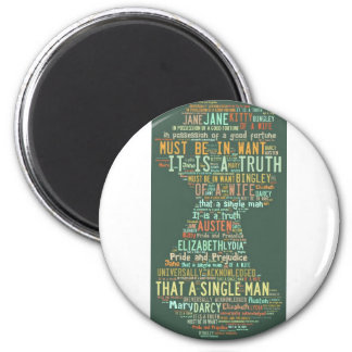 Pride and Prejudice Word Cloud Magnet
