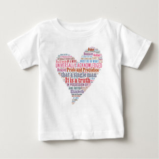 Pride and Prejudice Word Cloud Pink Baby T-Shirt