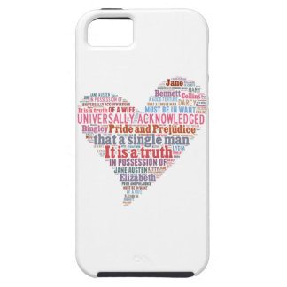 Pride and Prejudice Word Cloud Pink iPhone 5 Cases