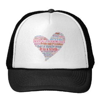 Pride and Prejudice Word Cloud Pink Trucker Hat