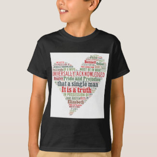 Pride and Prejudice Word Cloud T-Shirt