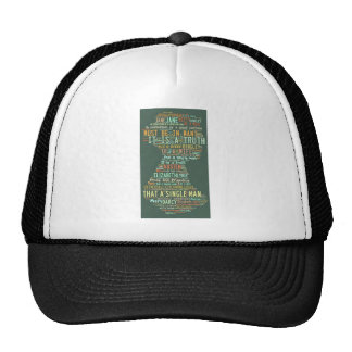 Pride and Prejudice Word Cloud Trucker Hat