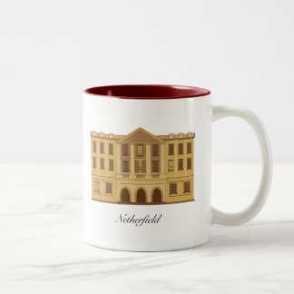 Pride and Prejudice's Pemberley and Netherfield Two-Tone Coffee Mug