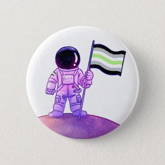 Pride Astronaut [Agender] 2 Inch Round Button