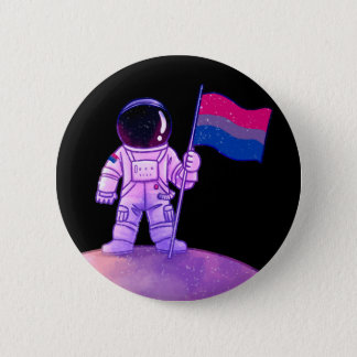 Pride Astronaut [Bi] 2 Inch Round Button