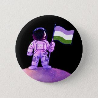 Pride Astronaut [Genderqueer] 2 Inch Round Button