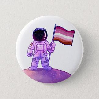 Pride Astronaut [Lesbian] 2 Inch Round Button