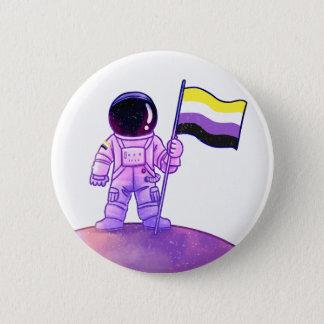 Pride Astronaut [Nonbinary] 2 Inch Round Button