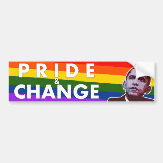 Pride & Change - Obama Political Bumper Sticker