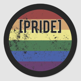Pride Circle Classic Round Sticker
