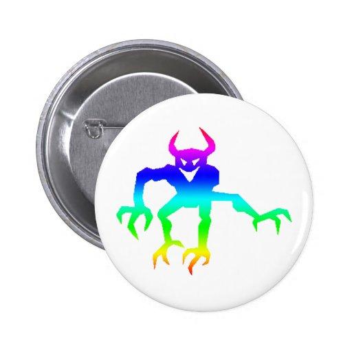 Pride Demon Halloween Buttons