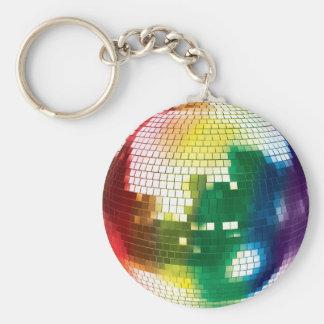 pride disco ball basic round button keychain