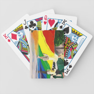 Pride Flag in Parade Bicycle Playing Cards