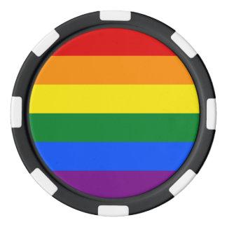 Pride Flag Poker Chips