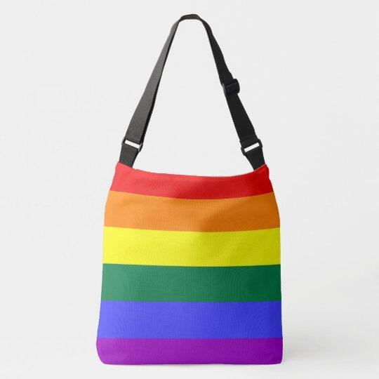 Pride flag rainbow cross body bag