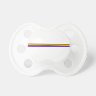 Pride flag rainbow custom baby soother