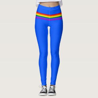 Pride flag rainbow custom Leggings blue