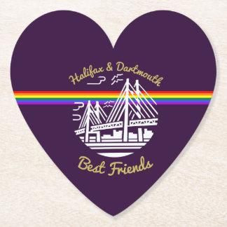 Pride Halifax Dartmouth best friend coaster purple