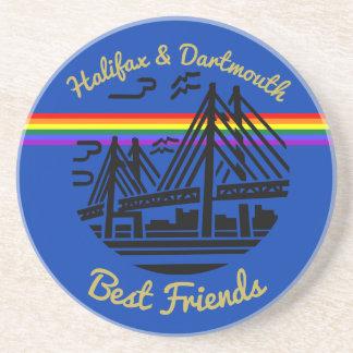 Pride Halifax Dartmouth best friends coaster