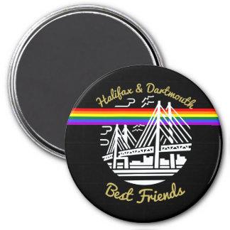 Pride Halifax Dartmouth best friends fridge Magnet