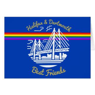 Pride Halifax Dartmouth best friends greeting card