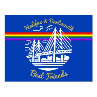 Pride Halifax Dartmouth best friends post card