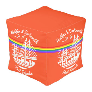 Pride Halifax Dartmouth best friends rainbow pouf