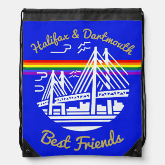 Pride Halifax Dartmouth friends drawstring bag