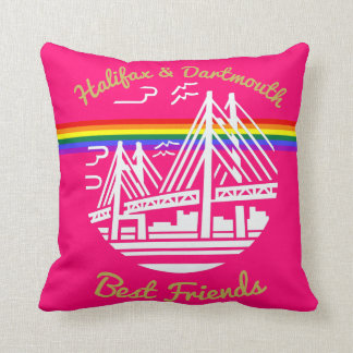 Pride Halifax Dartmouth friends rainbow  pillow
