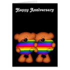 Pride Heart Teddy Bears Happy Anniversary Card