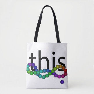PRIDE Human Rights Diversity Equality Rainbow Tote