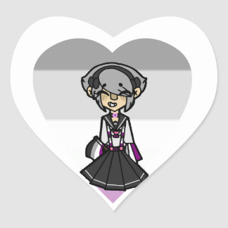 Pride Magical Girl - Asexual Heart Sticker