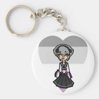Pride Magical Girl - Asexual Keychain