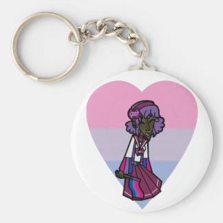 Pride Magical Girl - Bisexual Keychain