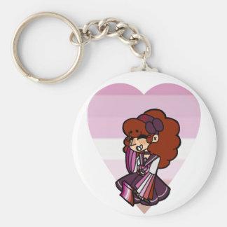 Pride Magical Girl - Lesbian Keychain