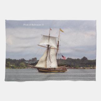 Pride of Baltimore II kitchen towel