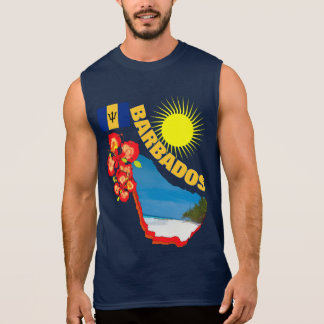 Pride Of Barbados Flower & Map  Sunny Graphic Sleeveless Shirt