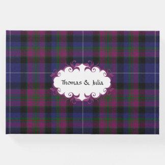 Pride of Scotland Plaid Wedding Guest Book