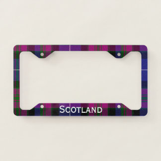 Pride of Scotland Tartan Plaid License Plate Frame