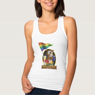 Pride Owl Flag Slim Fit Tank