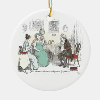 Pride & Prejudice - Announcement By Sir William Lu Round Ceramic Ornament