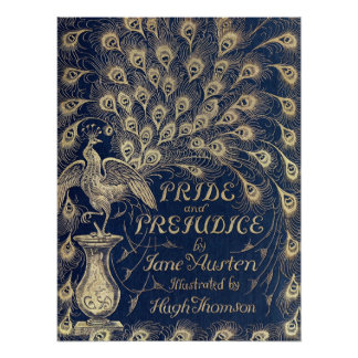 Pride & Prejudice Antique Cover Poster