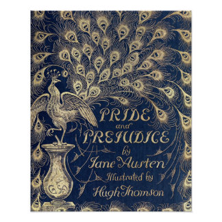 "Pride & Prejudice Antique Cover Poster 16"" x 20"""