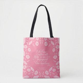 Pride & Prejudice Jane Austen Floral Bookish Quote Tote Bag