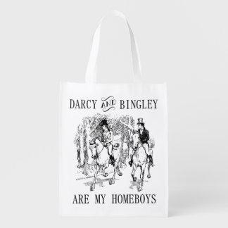Pride & Prejudice Mr. Darcy & Mr. Bingley tote bag