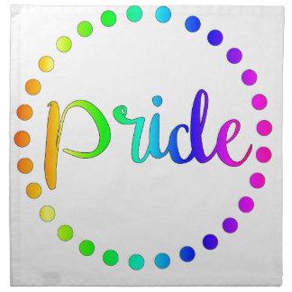Pride Rainbow Circles Napkin