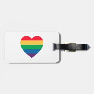 Pride Rainbow Heart Luggage Tag