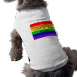 pride rainbow, I LOVE MY TWO MOMS Doggie T Shirt