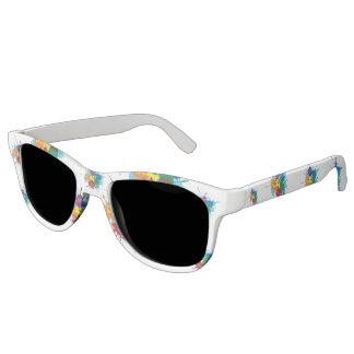 Pride Rainbow Splatter Premium Smoke Sunglasses